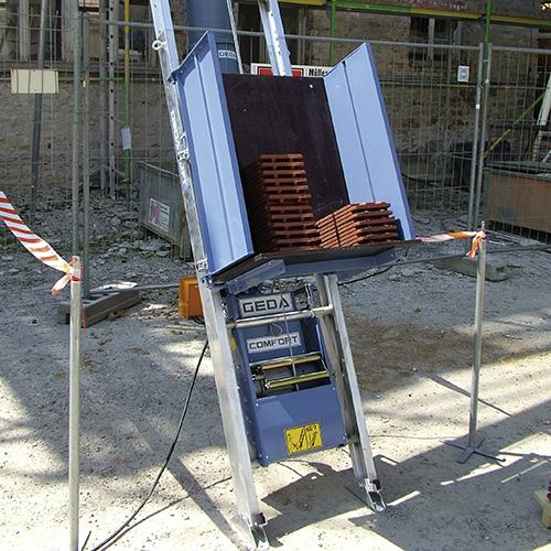 Geda comfort 250 cseréplift építési ferdepályás felvonó bérlése kölcsönzése