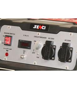 220V 3.8 kw egyfázisú benzines áramfejlesztő aggregátor generátor bérlése kölcsönzése panel