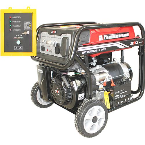 220V 8.5 kw egyfázisú benzines áramfejlesztő aggregátor generátor bérlése kölcsönzése hálózati automata áramleválasztóva