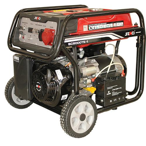 380V 400V 7 kw három fázisú benzines áramfejlesztő aggregátor generátor bérlése kölcsönzése
