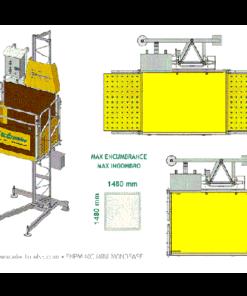 EPHM 400 mini építési építőipari oszlopos teherfelvonó teherlift bérlése kölcsönzése