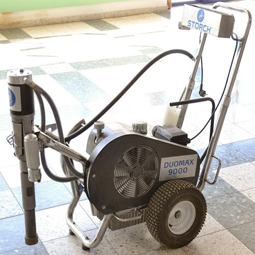 Storch Duomax 9000 glettszóró festékszóró gép glettelőgép bérlése kölcsönzése