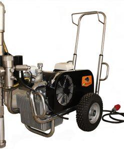 paz 9600e nagynyomású nagyteljesítményű 380V ipari glettszóró glettelő gép bérlése kölcsönzése