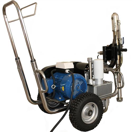 paz 9600e nagynyomású nagyteljesítményű 380V ipari glettszóró glettelő gép kölcsönzése bérlése